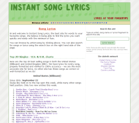 Instant Song Lyrics